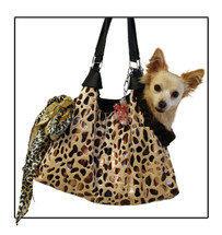 Tan Coffee Runaround Pet Shoulder Tote
