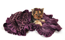 Purple Cheetah Faux Fur Sleepytime Cuddle Blanket