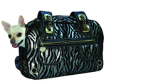 Zebra Rock Pet Shoulder Tote