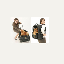 Pet Pilot Wheeled Trolly Backpack Car Seat Carrier