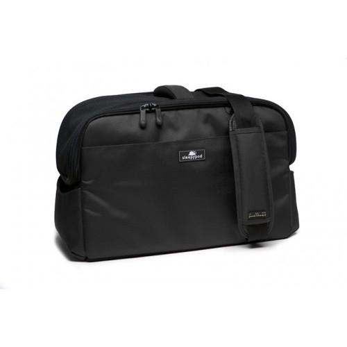 Black Sleepypod Atom Airline Approved Pet Carrier has adjustable shoulder straps for shoulder carrying