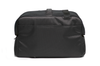 Black Sleepypod Atom Airline Approved Pet Carrier features a back pocket that can be unzipped so the carrier slides over telescoping luggage handles
