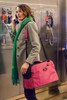 Pink Sleepypod Atom Airline Approved Pet Carrier has a padded shoulder strap for comfort