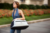 Sleepypod Air Silver Airline Approved Pet Carrier is easy to shoulder carry