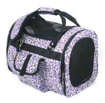 Purple Mosaic Nylon Classic Duffel Pet Carrier