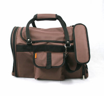 Chocolate Brown Canvas Privacy Pet Carrier