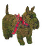 Scottie Mossed Topiary Dog - decorate yours for seasonal displays! (Ribbon not included)