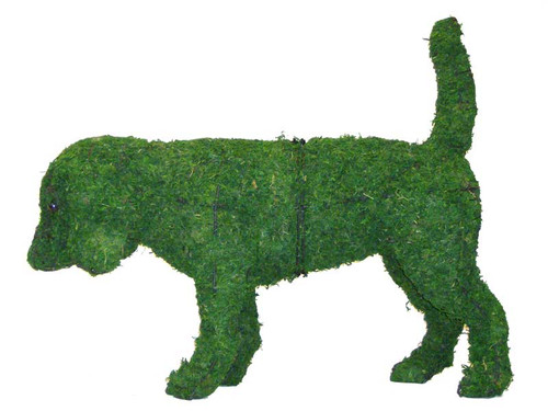 Mossed Beagle Topiary Dog Garden Sculpture