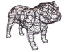 Bulldog Frame Topiary Dog