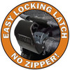 Happy Trails No Zip Pet Strollers have a proprietary locking latch