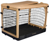 Tan Deluxe Pet Crate includes a comfort pad
