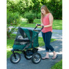 Jogger No Zip Pet Stroller in forest green shown fully closed