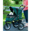 Jogger No Zip Pet Stroller in forest green with top partially open