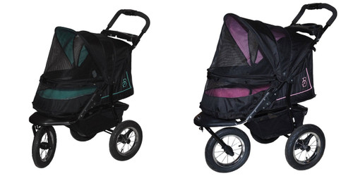 NV No Zip Pet Stroller is available in three color choices