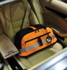 Sleepypod Air Robin Egg Blue Airline Approved Pet Carrier functions as a pet car safety seat when affixed to the seat with you vehicle's seatbelt