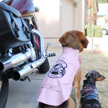 Pink Biker Dog Motorcycle Jacket