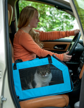 Mulipurpose Aqua Blue Pet Car Safety Seat Carrier