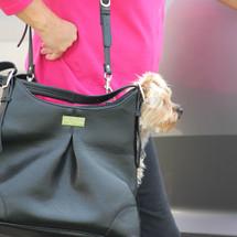 Mia Michele Sadie Pebbled Black Dog Tote