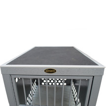 Zinger crate shown with grooming top added - crate NOT included