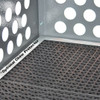Optional chew protector that goes around the drain through flooring for dogs that tend to chew