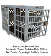 Zinger Deluxe Front/Side Door Aluminum Dog Crate Box