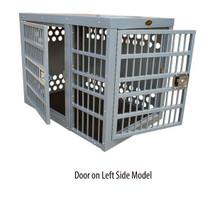 Zinger Professional Front/Side Door Aluminum Dog Crate model with door on left side