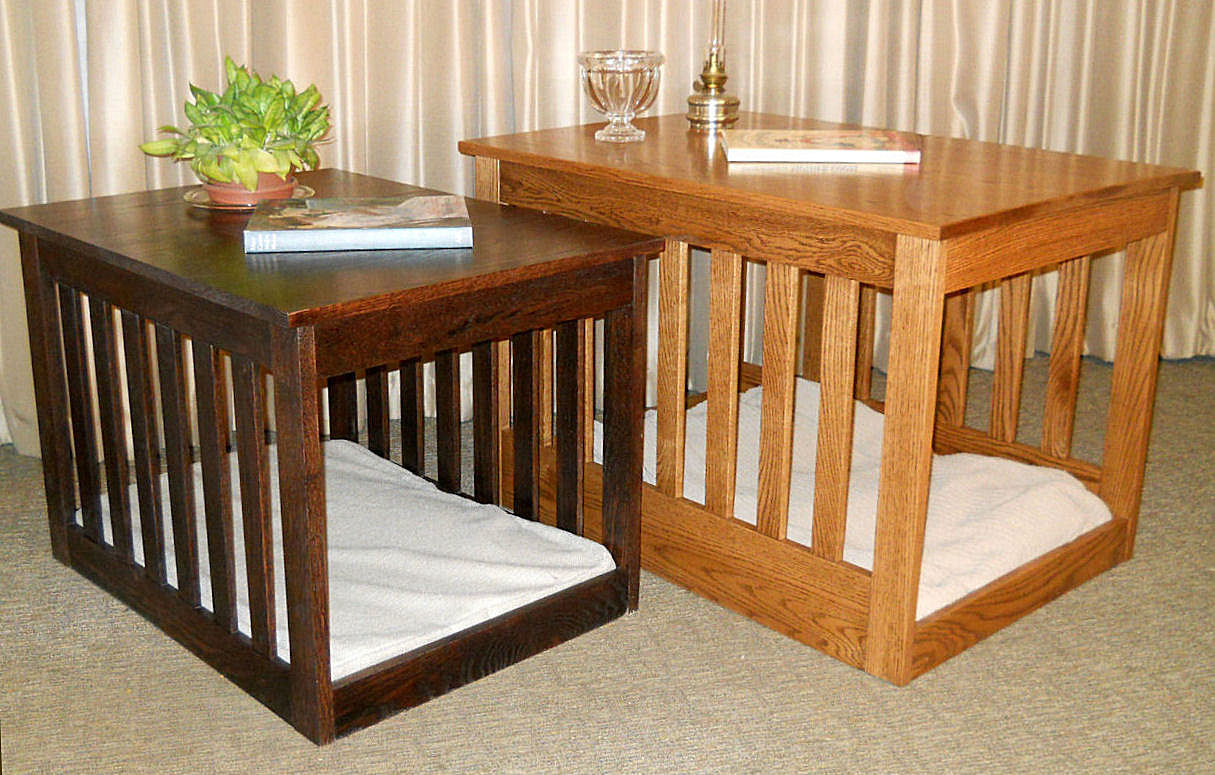 Solid Hardwood End Table Dog Bed The Paws Mahal