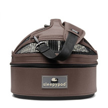 Chocolate Brown Sleepypod Mini Airline Approved Pet Carrier, Car Safety Seat, Bed
