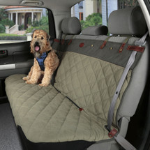 Luxury Premium Waterproof Non-Slip Green & Grey Bench Seat Cover