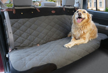 The luxury waterproof non-slip grey & black seat cover is a universal fit for all bench seats
