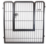 """Portable Indoor/Outdoor Kennel Exercise Pen Dog Run Door Can Be Installed with the door """"up"""" so there is a step over for access, or reverse it to the """"down"""" position for no step over."""