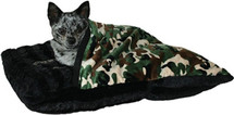 Army Camo Pet Pocket Burrow Bed