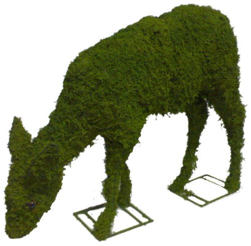 Mossed Doe Garden Topiary Sculpture