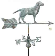Labrador Retriever Blue Verde Copper Cottage Weathervane