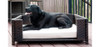 Rattan Indoor/Outdoor Rectangular Elevated Pet Sofa keeps pets elevated from wet or hot surfaces