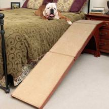 Tall Wooden Bedside Dog Ramp