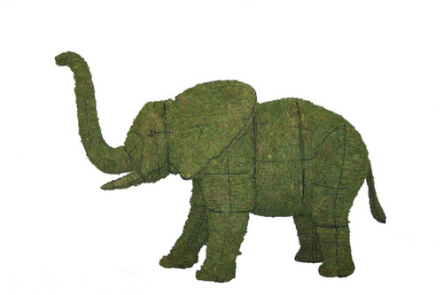 Mossed Elephant Topiary is available in 32, 48 and 60 inch sizes