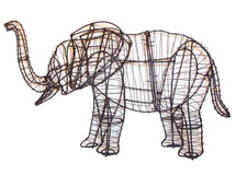 Frame Elephant Topiary Garden Sculpture