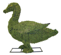 Mossed Duck Topiary is 19 inches tall