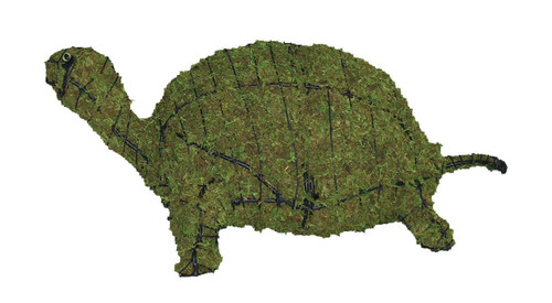 Turtle Mossed Frame Topiary Set includes two mossed 5 inch and one 8 inch mossed turtle topiaries