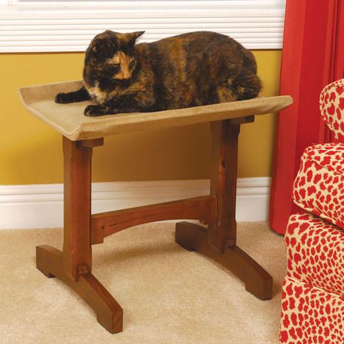 Single Seat Wood Cat Perch