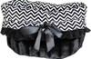Black Chevron 3-in-1 Pet Bed, Car Seat, Shoulder Tote Bag