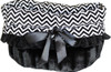 Black Chevron 3-in-1 Pet Bed, Car Seat, Shoulder Tote Bag