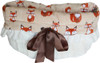 3-In-1 Reversible Foxy Snuggle Bug functions as a pet bed, a car seat or a shoulder tote.