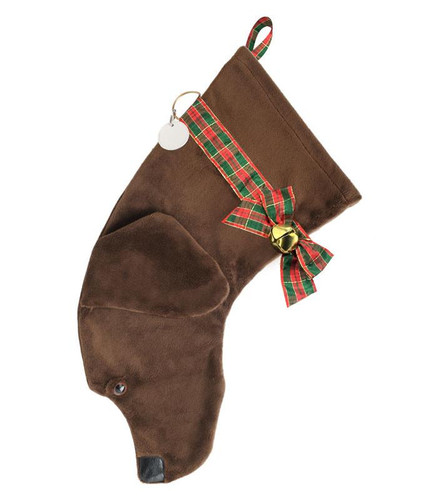 Chocolate Labrador Retriever Christmas Holiday Dog Stocking