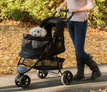 Pet Gear No Zip Gold Monogram Special Edition Pet Stroller