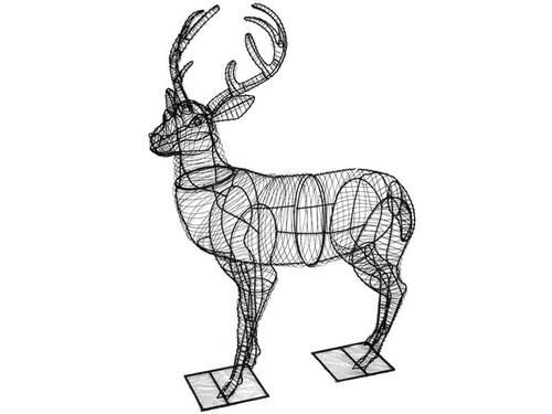 """52"""" Frame Deer Garden Topiary Sculpture"""