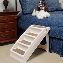 PupStep Plus Dog Stairs used to reach higher sofas