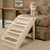 PupStep Plus Dog Stairs used to reach high chairs