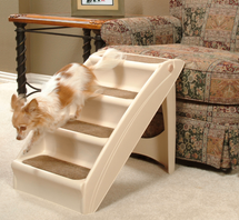 PupStep Plus Dog Stairs are easy to maneuver and support pets up to 120 lbs.